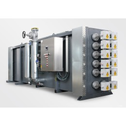 Thermal oil heating system electrically operated