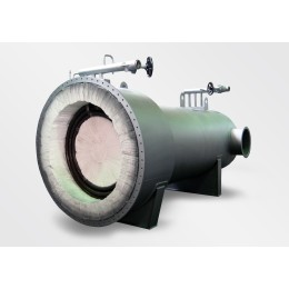 Thermal oil heating system, steam heated