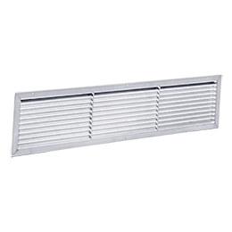 Air inlet and outlet grilles aluminium