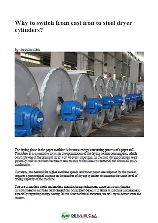 Why to switch from cast iron to steel dryer cylinders