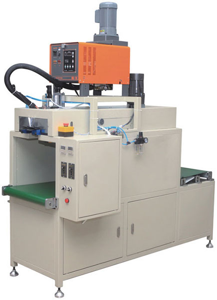 Paper end bonding machine for air filter