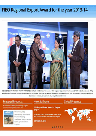 FIEO Regional Export Award for the year 2013-14