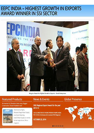 EEPC INDIA – HIGHEST GROWTH IN EXPORTS AWARD WINNER IN SSI SECTOR