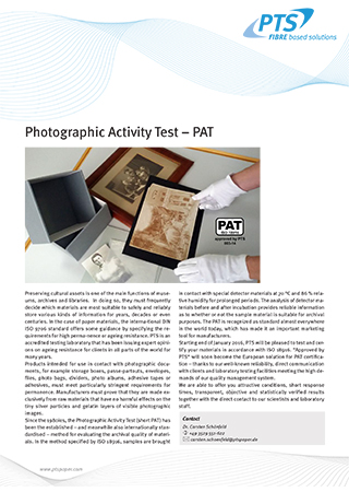 Photographic Activity Test – PAT