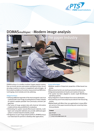DOMASmultispec - Modern image analysis for the paper industry