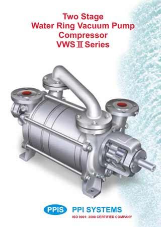 Two Stage Water Ring Vacuum Pump Compressor VWS II Series