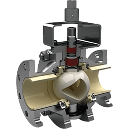 kzt-ceramic lined trunnion mounted ball valve