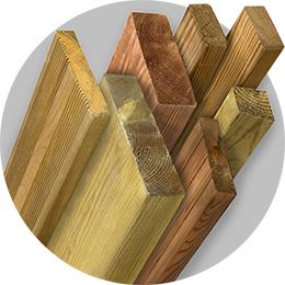 Kestopuu-impregnated redwood